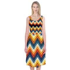 The Amazing Pattern Library Midi Sleeveless Dress