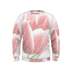 Tulip red pencil drawing art Kids  Sweatshirt