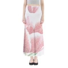 Tulip red pencil drawing art Maxi Skirts