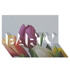Tulips Party 3d Greeting Card (8x4)