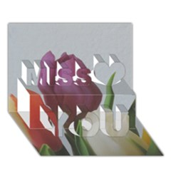 Tulips Miss You 3d Greeting Card (7x5)