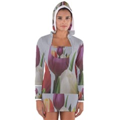 Tulips Women s Long Sleeve Hooded T Shirt