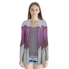 Tulips Drape Collar Cardigan