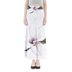 White Magnolia pencil drawing art Maxi Skirts