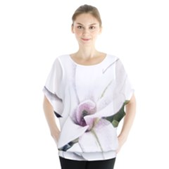 White Magnolia pencil drawing art Blouse