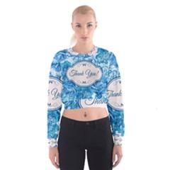 Thank You Women s Cropped Sweatshirt
