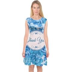 Thank You Capsleeve Midi Dress