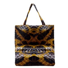Textures Snake Skin Patterns Grocery Tote Bag