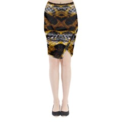 Textures Snake Skin Patterns Midi Wrap Pencil Skirt