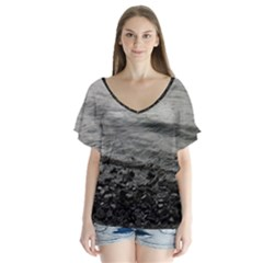 Beck Wythop V-Neck Flutter Sleeve Top