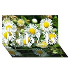 White Summer Flowers Oil Painting Art #1 Dad 3d Greeting Card (8x4)