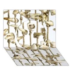 Hanging Human Teeth Dentist Funny Dream Catcher Dental Circle 3D Greeting Card (7x5)