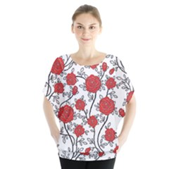 Texture Roses Flowers Blouse