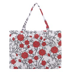 Texture Roses Flowers Medium Tote Bag