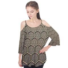 Texture Hexagon Pattern Flutter Tees