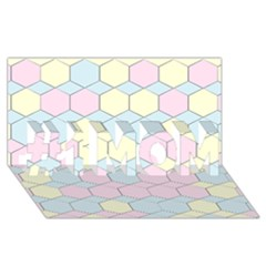 Colorful Honeycomb   Diamond Pattern #1 Mom 3d Greeting Cards (8x4)