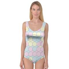 Colorful Honeycomb   Diamond Pattern Princess Tank Leotard