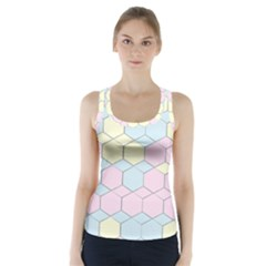 Colorful honeycomb - diamond pattern Racer Back Sports Top