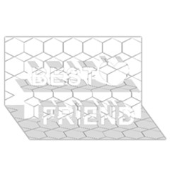 Honeycomb   Diamond Black And White Pattern Best Friends 3d Greeting Card (8x4)