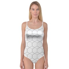 Honeycomb   Diamond Black And White Pattern Camisole Leotard