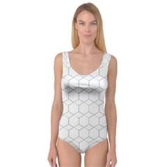 honeycomb - diamond black and white pattern Princess Tank Leotard
