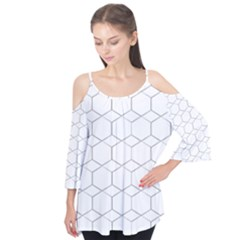 honeycomb - diamond black and white pattern Flutter Tees