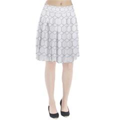 Honeycomb   Diamond Black And White Pattern Pleated Skirt