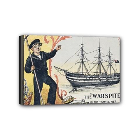 Vintage Advertisement British Navy Marine Typography Mini Canvas 6  x 4