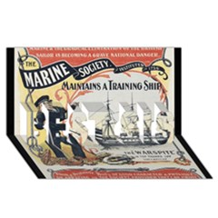 Vintage Advertisement British Navy Marine Typography BEST SIS 3D Greeting Card (8x4)