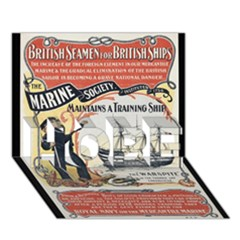 Vintage Advertisement British Navy Marine Typography HOPE 3D Greeting Card (7x5)