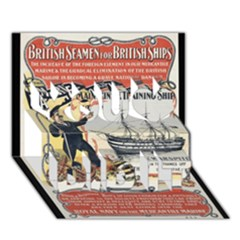 Vintage Advertisement British Navy Marine Typography You Did It 3D Greeting Card (7x5)