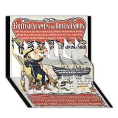Vintage Advertisement British Navy Marine Typography You Rock 3D Greeting Card (7x5)