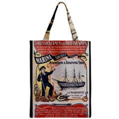 Vintage Advertisement British Navy Marine Typography Classic Tote Bag