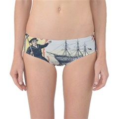 Vintage Advertisement British Navy Marine Typography Classic Bikini Bottoms