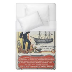 Vintage Advertisement British Navy Marine Typography Duvet Cover Single Side (Single Size)