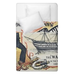 Vintage Advertisement British Navy Marine Typography Duvet Cover (Single Size)