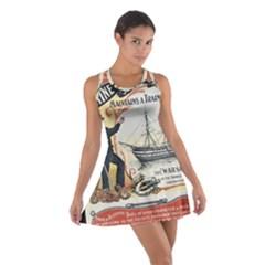 Vintage Advertisement British Navy Marine Typography Cotton Racerback Dress