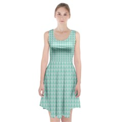 Mint Color Triangle Pattern Racerback Midi Dress