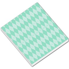 Mint Color Diamond Shape Pattern Small Memo Pads