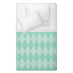 Mint Color Diamond Shape Pattern Duvet Cover Single Side (single Size)