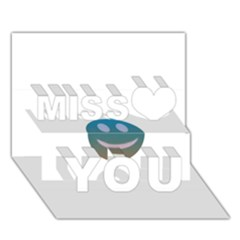 Smiley Miss You 3d Greeting Card (7x5)