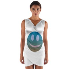 Smiley Wrap Front Bodycon Dress