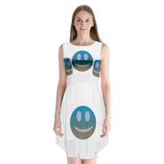 Smiley Sleeveless Chiffon Dress