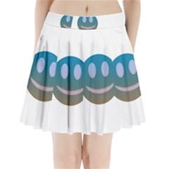 Smiley Pleated Mini Skirt