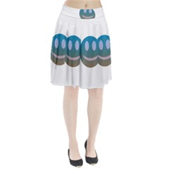 Smiley Pleated Skirt