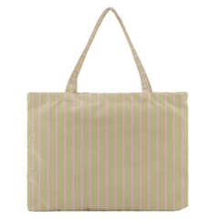 Summer Sand Color Pink Stripes Medium Zipper Tote Bag