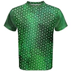 Green Abstract Forest Men s Cotton Tee