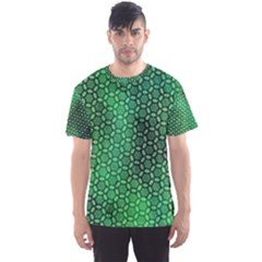 Green Abstract Forest Men s Sport Mesh Tee