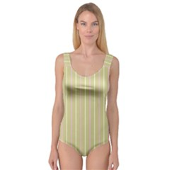 Summer sand color pink and yellow stripes Princess Tank Leotard