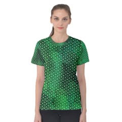 Green Abstract Forest Women s Cotton Tee